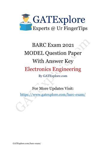 BARC Exam 2021 (OCES/DGFS) ELECTRONICS Model Question ...