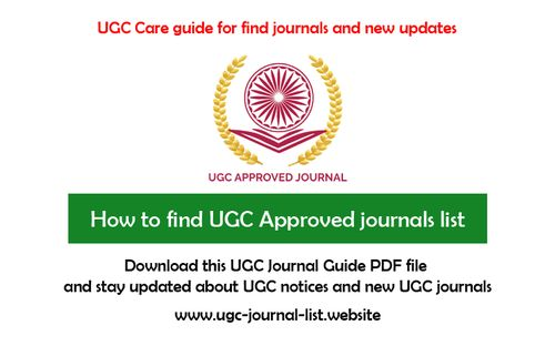 how to find ugc approved journals